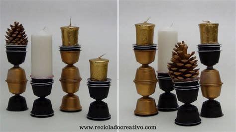 como hacer candelabros c 243 mo hacer portavelas o candelabros con c 225 psulas de caf 233