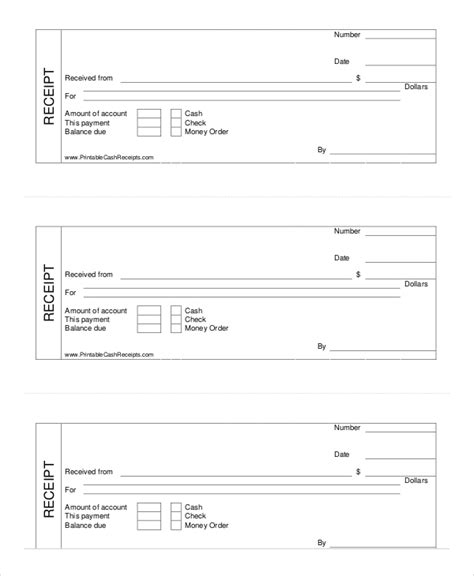 printable receipts templates receipt template 8 free word pdf documents