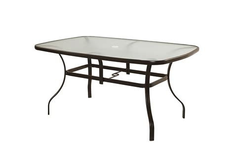 60 Inch Patio Table Unbranded Maple Valley 38 Inch X 60 Inch Steel Rectangular Outdoor Dining Table The Home Depot