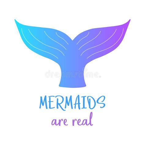 colorful mermaid tails colorful mermaid mermaids are real stock vector