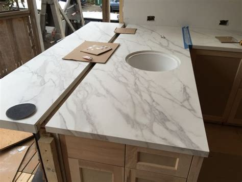 Side Chairs For Dining Room Counters Are In Neolith Calacatta