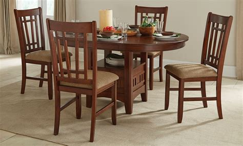 mission oak dining table haynes furniture mission oak pedestal dining set