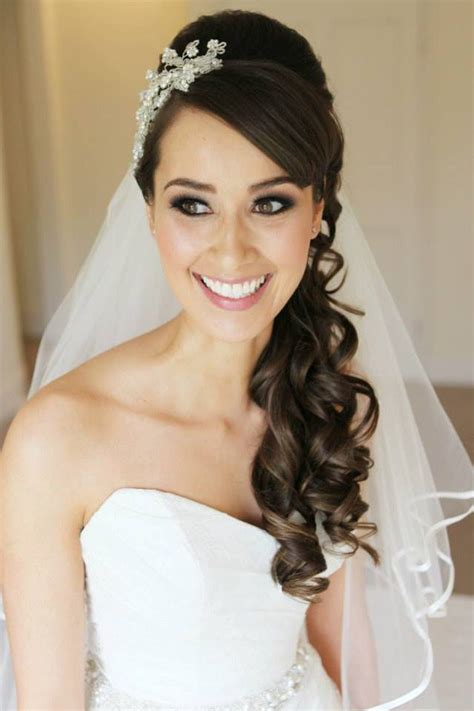 Bridal Hairstyles Side Swept With Veil by 30 Beautiful Wedding Hair For Bridal Veils