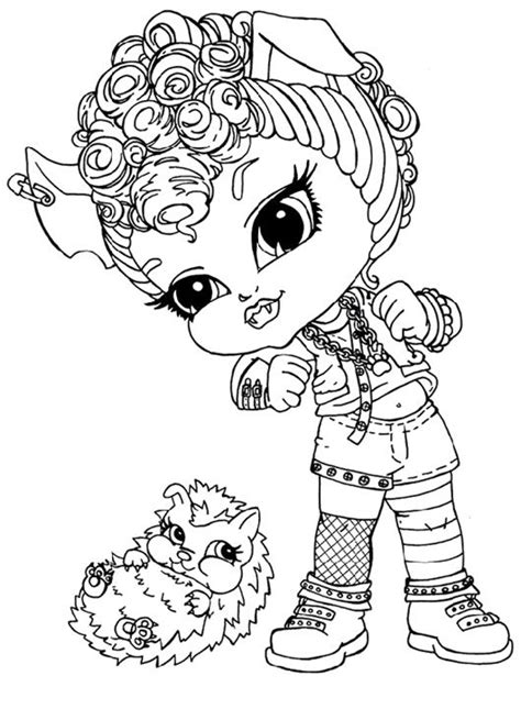 monster high coloring pages howleen wolf free coloring pages of fcb