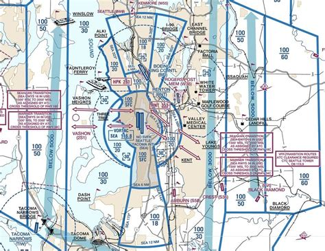 seattle sectional chart air traffic control why does class d overlap class b