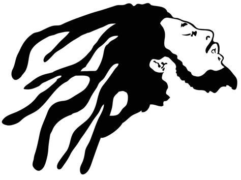 Black Stickers a bob marley reggae style vinyl cut decal or sticker in glossy black ebay