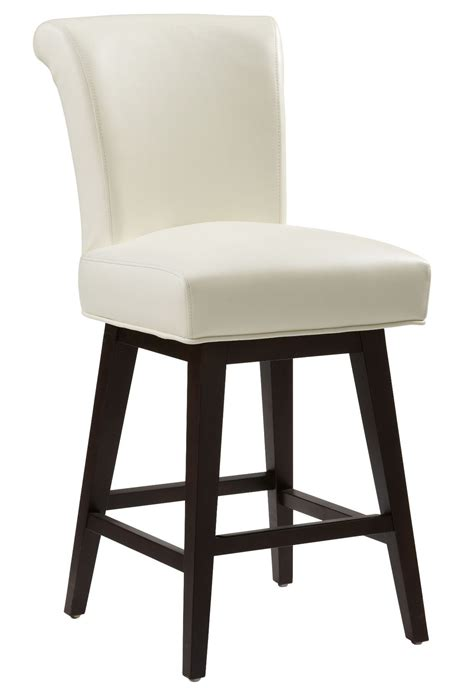 ivory leather bar stools hamlet ivory swivel counter stool from sunpan 74926