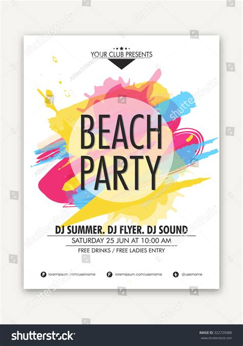 1 page flyer template one page flyer banner template stock vector