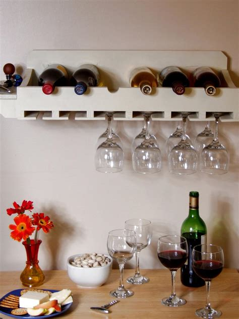 how to make a wine rack in a cabinet how to build a wine rack for bottles and glasses how tos