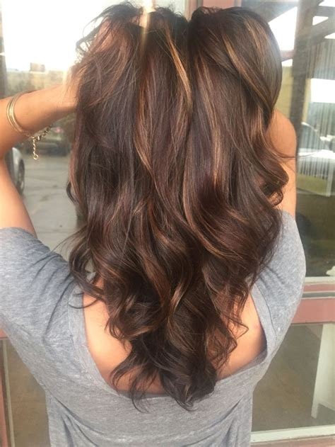 average cost for cut color and balayage highlights the 25 best dark brunette balayage ideas on pinterest