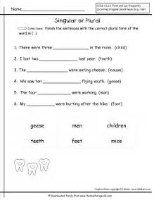 Plural nouns students select the correct plural form of the noun