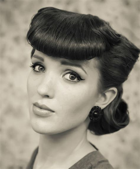 1950 hair styles with bangs 11 easy vintage hairstyles that are a cinch to do we promise