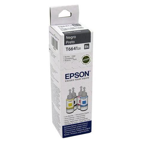 Tinta Epson Bk Refil De Tinta Epson 6641 Preto T664120 Bk Waz