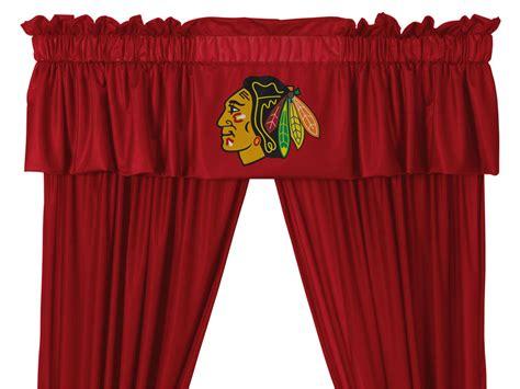 chicago blackhawks curtains nhl chicago blackhawks long curtain set 5pc drapes