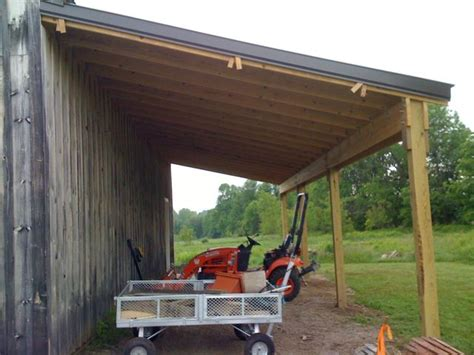 How To Add A Lean To On A Shed by Building A Lean To Roof