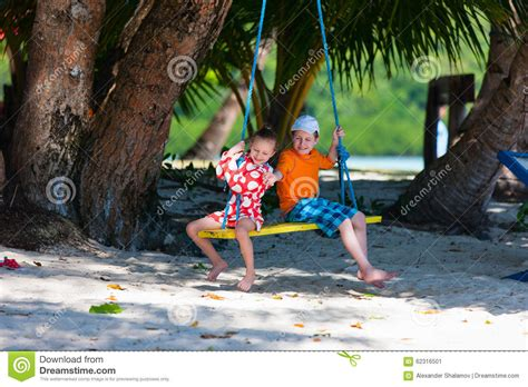 swing swing swing on a summer day lyrics kids on swing stock photo image 62316501