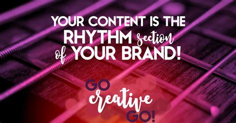 what is a rhythm section your content is the rhythm section of your brand