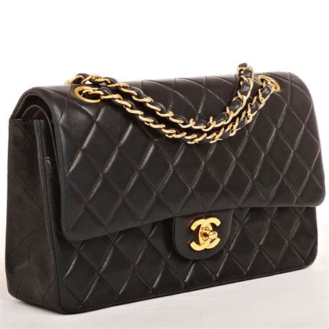 Chanel Quilted Bags by Chanel Black Quilted Lambskin Large Classic 2 55