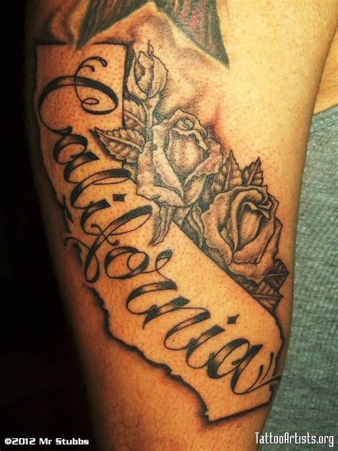 cali tattoo grey flowers buds california on half sleeve