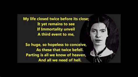 emily dickinson biography youtube quot my life closed twice before its close quot emily dickinson