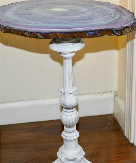 faux agate side table create a faux agate side table thrift store decor