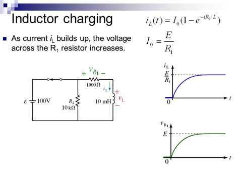 inductor current voltage equation lesson 12 inductors transient analysis ppt