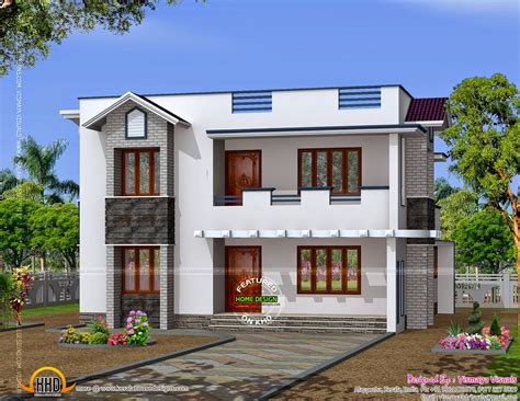 Simple Design House by Modern 2 Storied Kerala Home Design Keralahousedesigns
