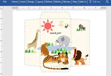 printable animal envelopes free make printable money envelopes for children using word