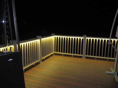 Outdoor Rail Lighting Beth Backyard On Patios Deck Lighting And Deck Railings