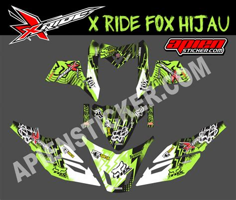 striping motor xride fox hijau apien sticker
