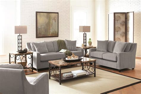torres upholstery torres 504721 sofa in grey fabric by coaster w options
