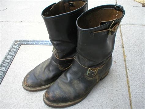 penneys boots vintage engineer boots 1960 s j c penney engineer boots