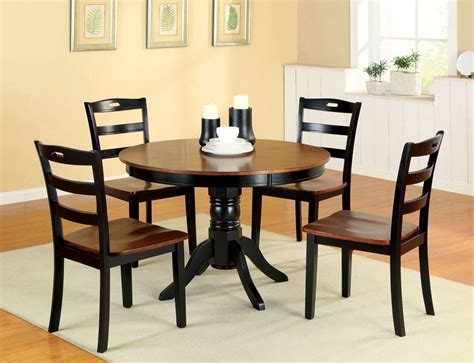 pedestal dining room sets johnstown antique oak and black round pedestal dining room