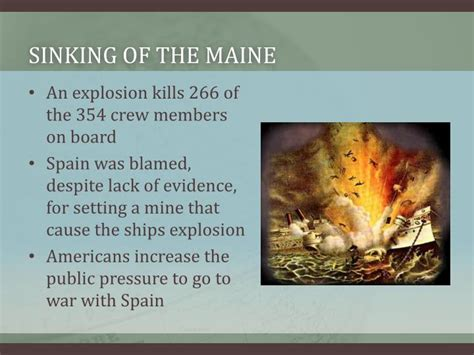 sinking of the maine ppt causes of the spanish american war powerpoint