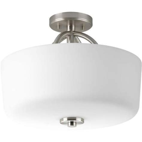 progress lighting calven collection 4 light brushed nickel bath light p3236 09wb the home depot progress lighting calven collection brushed nickel 3 light semi flush mount p3878 09 the home