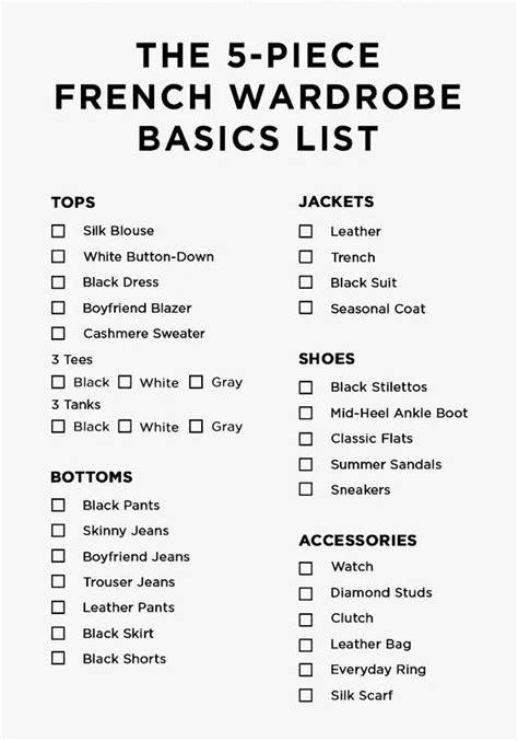 Basic Wardrobe List by 17 Best Ideas About Wardrobe Basics On