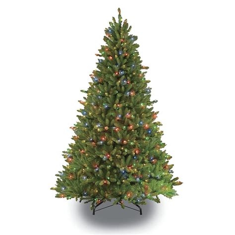 puleo 7 5 green fir artificial christmas tree with 750