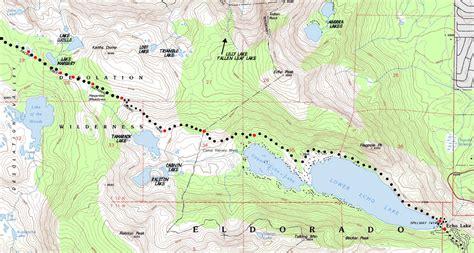 desolation wilderness map map echo lake to lake aloha desolation wilderness