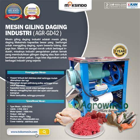 Mesin Giling Limbah Ikan mesin giling daging industri agr gd42 toko mesin