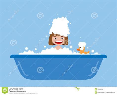 taking a bath stock illustration