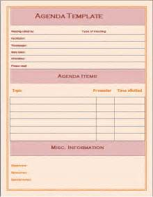 search results for free meeting agenda template microsoft