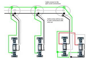 i m wiring in 3 lights in series all with separate