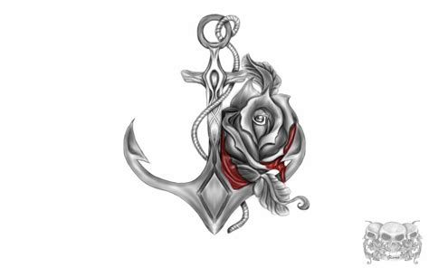 tattoo design anchor rose by gismo84 on deviantart