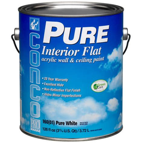 conco flat interior acrylic wall ceiling paint 1 gal at menards 174