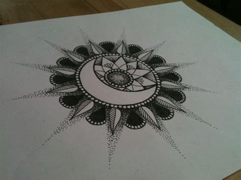 tattoo mandala sun sun moon mandala tattoo i absolutely love it so