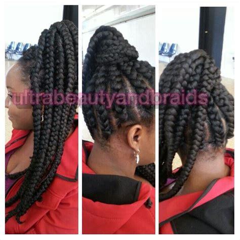 goddess braid in a ponytail goddess braids jumbo braids ultrabeautyandbraids com
