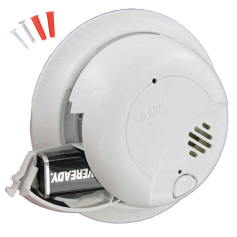 how to install smoke detector first alert sa9120bcn 120vac hardwired smoke alarm with