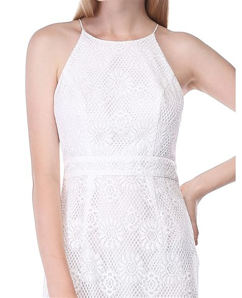 Lace Halter Style Dress 21902 white sheath halter lace dress as05687cr 38 6