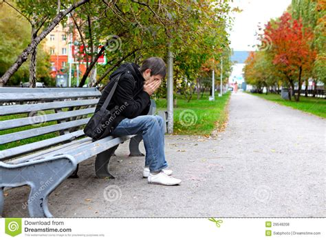 sad bench sad man royalty free stock photos image 29548208
