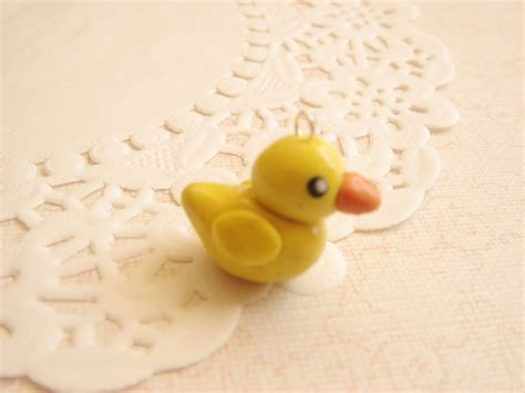 rubber sts for polymer clay polymer clay rubber duck charm by mintberrycreations on